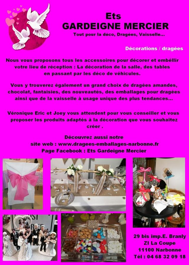 Gardeigne Mercier Vente D Emballages Narbonne Dragees Mariage